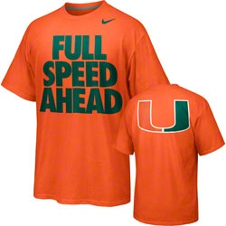 Miami Hurricanes Nike Full Speed Ahead T-Shirt - Orange  http://www.fansedge.com/Miami-Hurricanes-Basketball-Conference-Champions-T-Shirt-_833696011_PD.html?social=pinterest_pfid42-69049