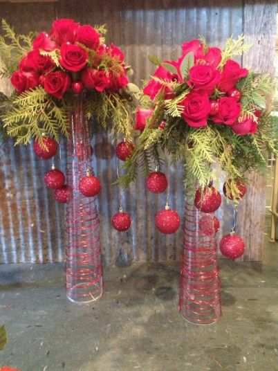 Use as a Christmas centerpiece, or mix it up and use for your wedding! May vary to fit your style to what occasion you would like to use for.  $150.00