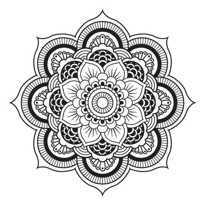Mandala de flor de loto Más