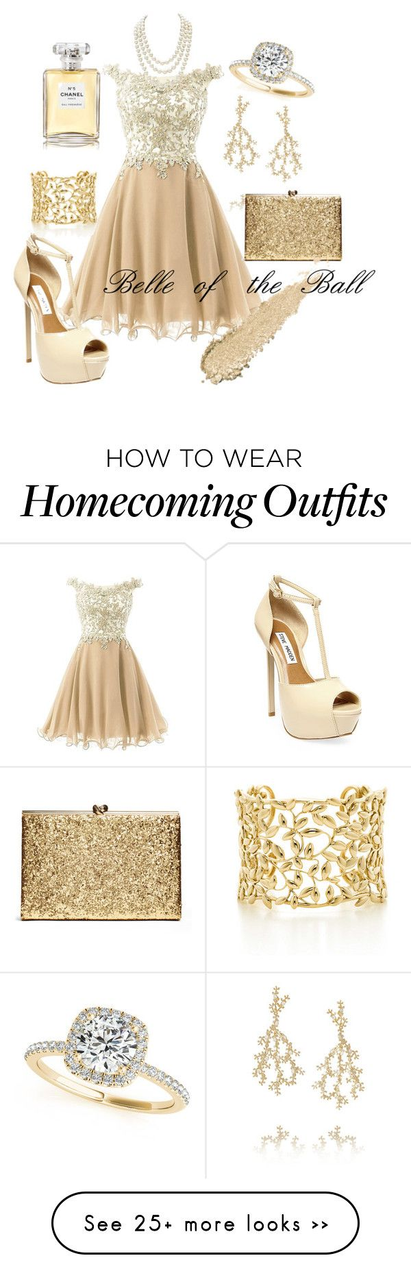 """Bell of the Ball"" by mishcacao on Polyvore featuring Rosantica, Steve Madden, Chanel, Allurez and Paloma Picasso"