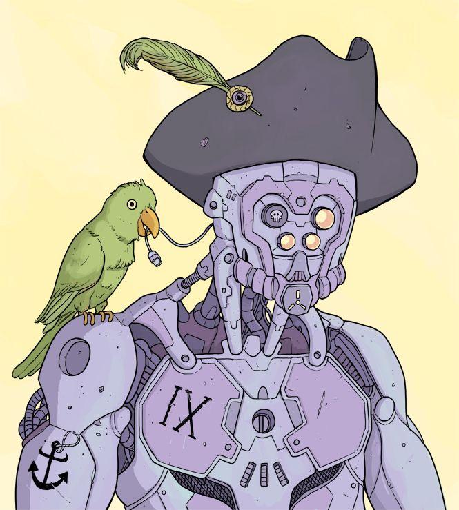 Piratebot by Nuclearpasta.deviantart.com on @DeviantArt