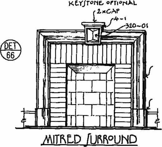 Mitered Fireplace Surround - Det. 66