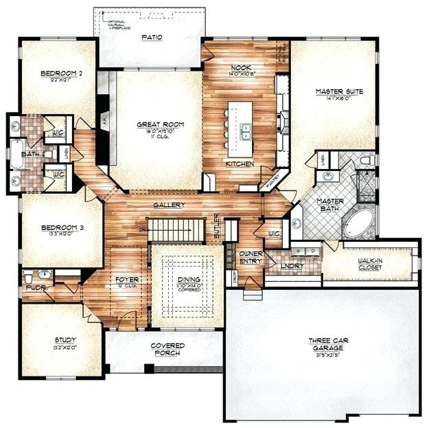 House Plans With Laundry Room Near Master Home Design House Plans Floor Plans Dream House Plans