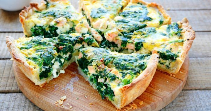 The ultimate spinach and salmon quiche | Starts at 60