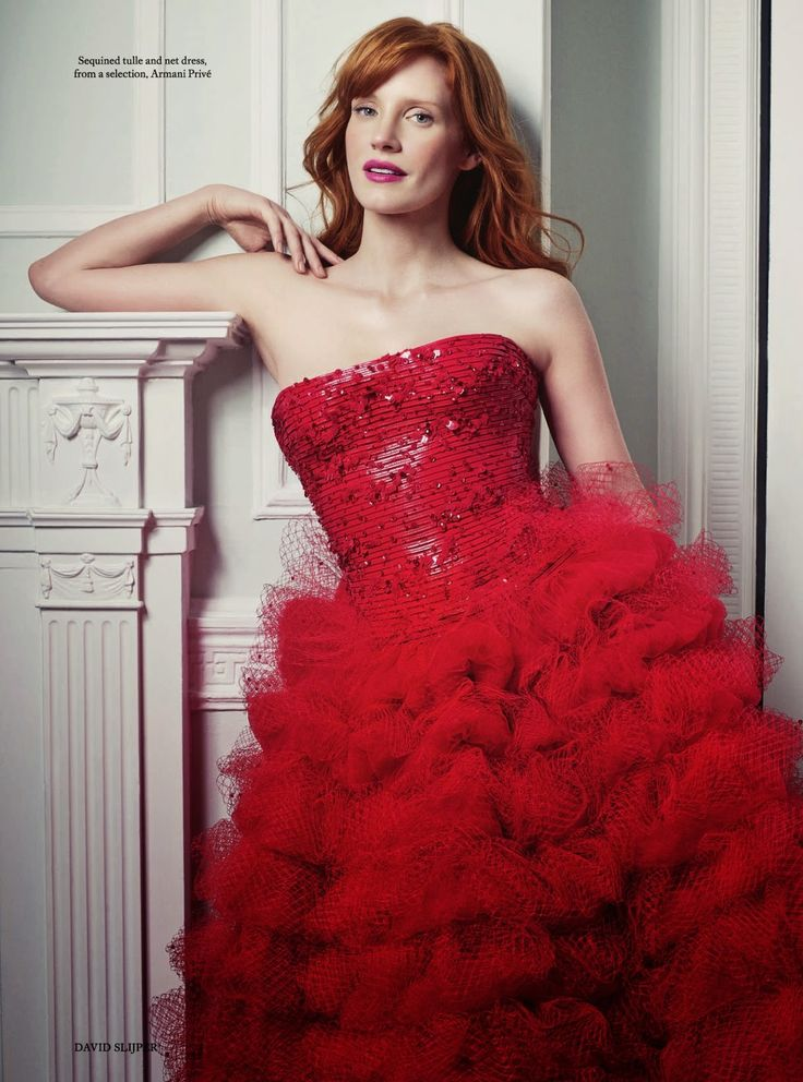 The Butterfly Effect: Harper's Bazaar UK November 2014 Jessica Chastain by David Slijper - Armani Prive