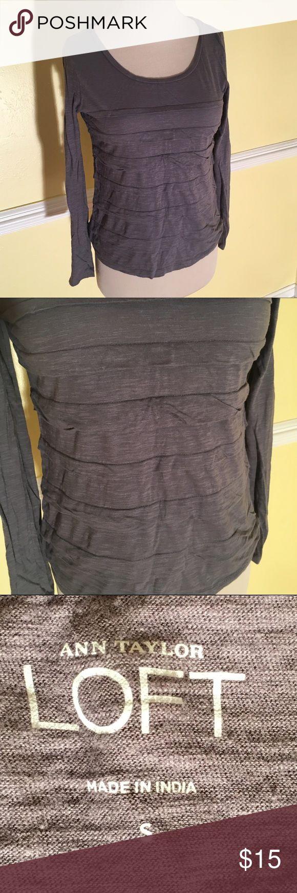Ann Taylor Loft Ann Taylor Loft Gray long sleeve shirt. ANN TAYLOR LOFT Tops