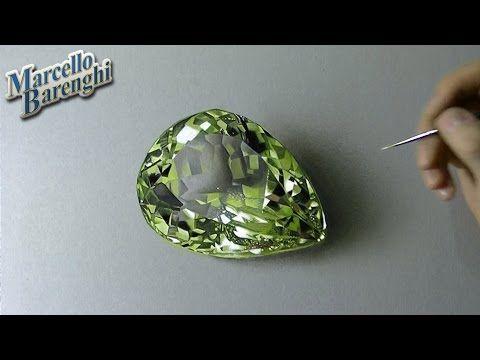 Drawing Time Lapse: lemon quartz - YouTube