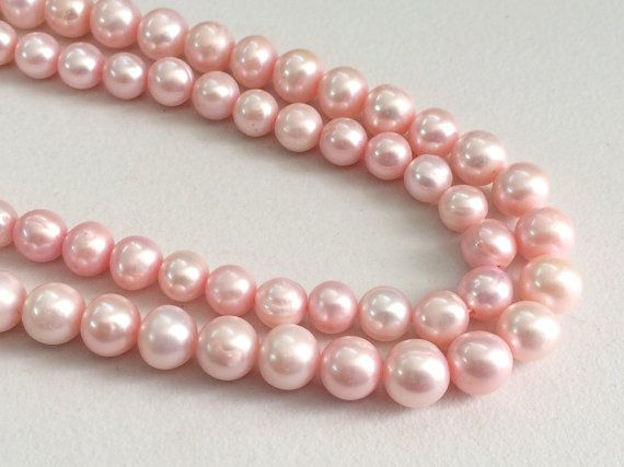 Pearls  Light Pink Color Pearls Natural Fresh by gemsforjewels
