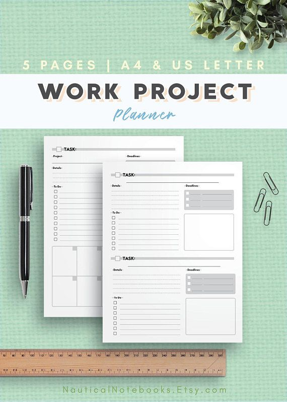 Productivity Planner For Office Tasks To Do List Work Printable