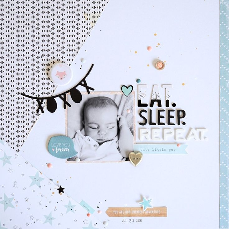Layout EAT. SLEEP. REPEAT. - Crate Paper *Little You* - von Ulrike Dold