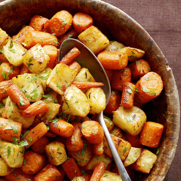 Roasted Celery Root and Carrots Recipe