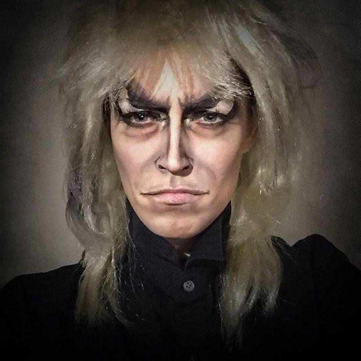 """Aquí como el recién fallecido David Bowie en su personaje de Jareth, el rey de los goblins, en la película """"Labryinth"""". Foto: instagram.com/rebeccaroaming"""
