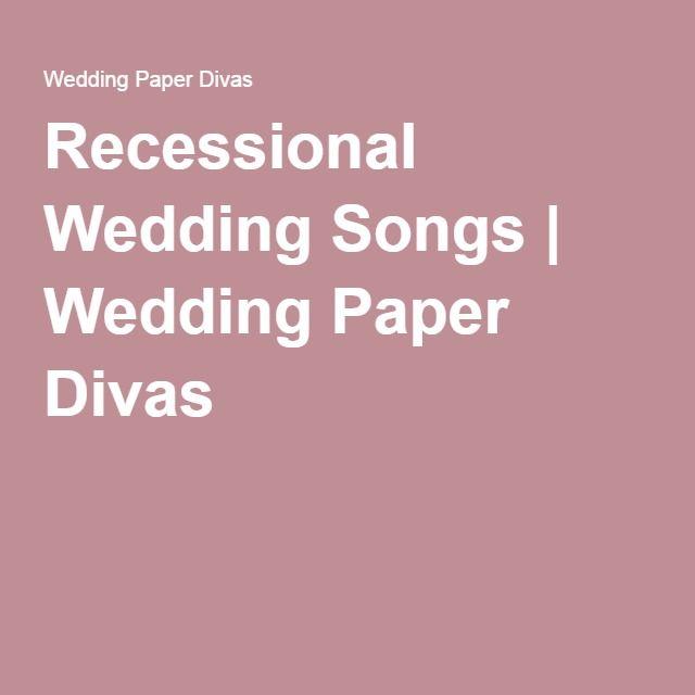 Alternative Wedding Songs First Dance: Best 25+ Wedding Recessional Songs Ideas On Pinterest
