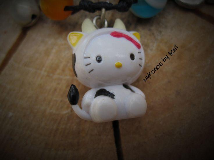 Hello Kitty Cow bracelet by MykonosByBoni on Etsy