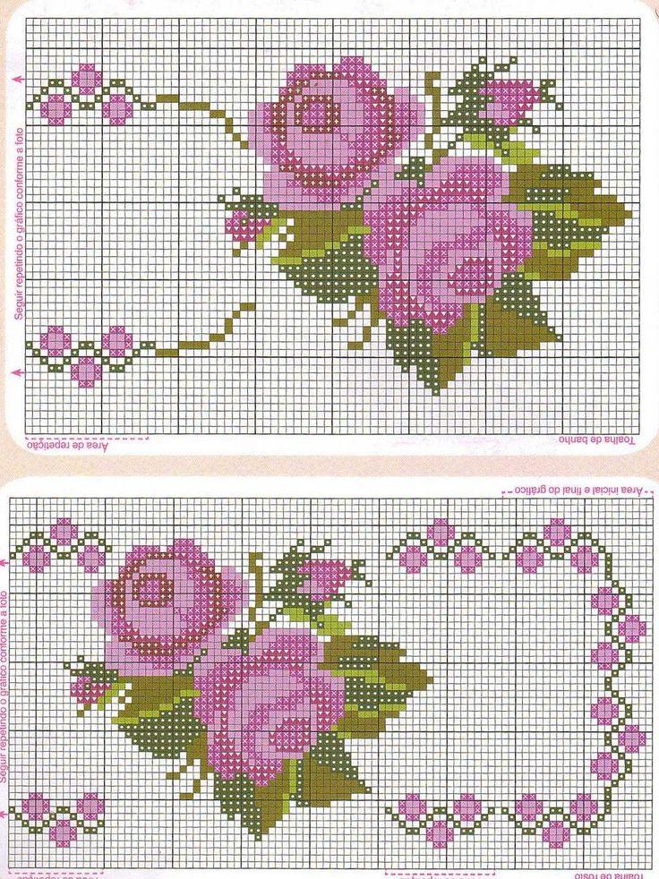 rosas - bordado ponto cruz....but I will change the colour.