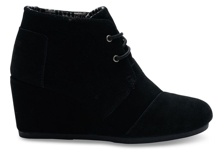 Black Black Suede Women's Desert Wedges--Looking for a black high heel shoe for prom