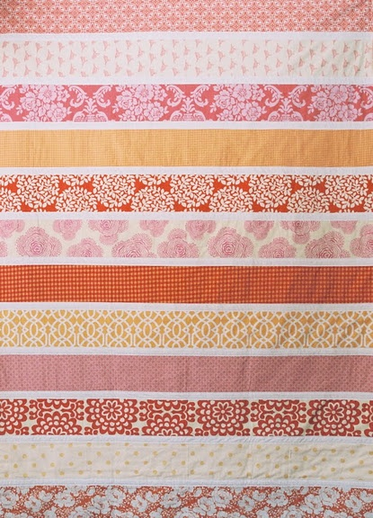 """a little technical info  Each quilt is made from twelve 4"""" strips with 1"""" white in between.  Finished quilt measures 41 x 56.5 inches ... you think I can make this @Karen Staus ?"""