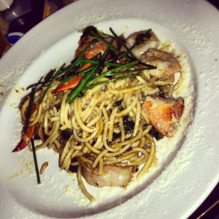 My favorite at Yard House, lobster garlic noodles