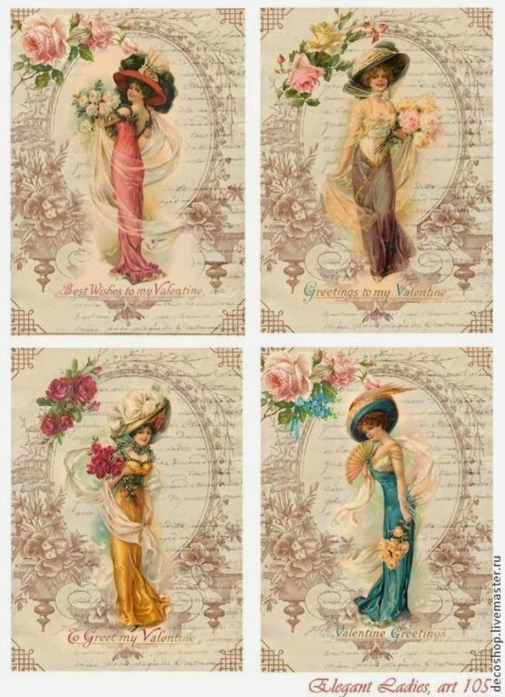Victorian Ladies with roses