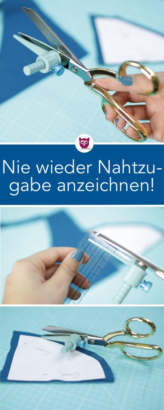 [Werbung] Nie wieder Nahtzugabe anzeichnen! Zuschn…