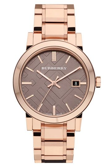 Burberry Large Check Stamped Bracelet Watch @Nordstrom