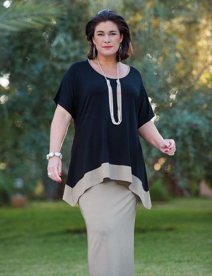 Kasbah+black/taupe+jersey+stripe+top                                                                                                                                                                                 More