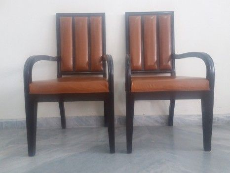 For Sale Two Leather Chair For More Information Please Visit http://usedfurnitures.in/product/2-chair-set-leather-1701 or www.usedfurnitures.in or Call: 8826755599