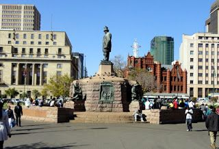 Church Square is the historic city center of Pretoria, South Africa.