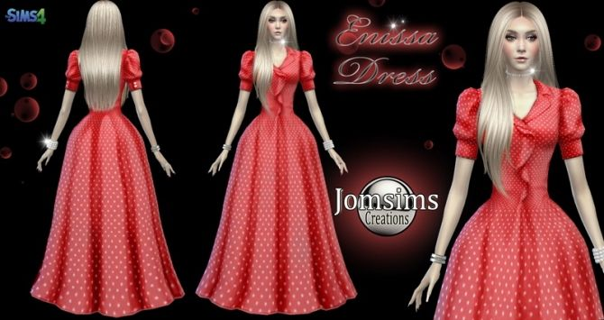 Enissa dress at Jomsims Creations • Sims 4 Updates