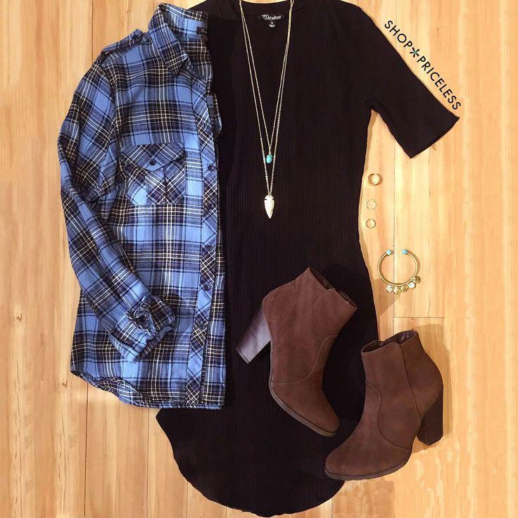 Lala Ribbed Dress - Black