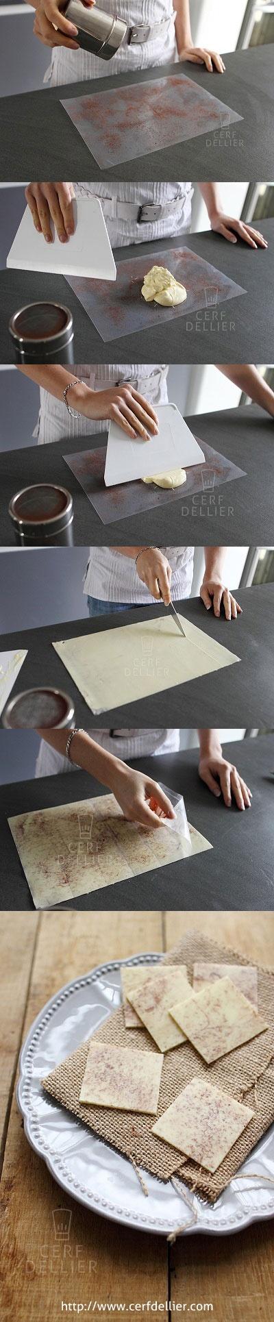 [Tuto] Réaliser des palets de chocolat mouchetés.