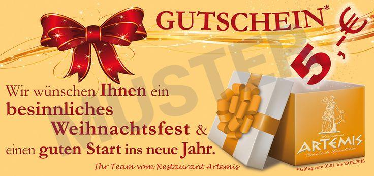 Restaurant Artemis Emmerich - DIN lang Gutschein