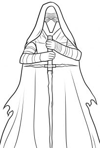 149 best images about to color on pinterest princess for Kylo ren coloring page