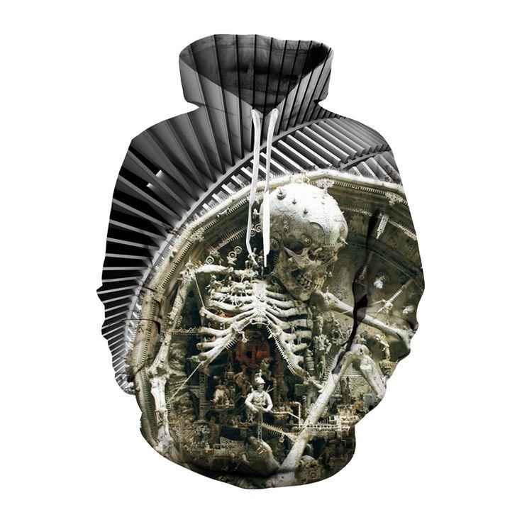 Mechanic Skull 3D Printed Hoodie //Price: $37.85 & FREE Shipping //     3dtshirt