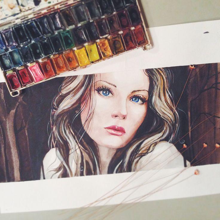 #watercolor #portrait  #girl