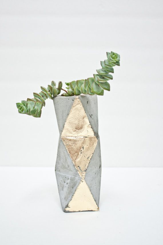 Geometric Concrete Succulent Cacti Planter by ConcreteGeometric