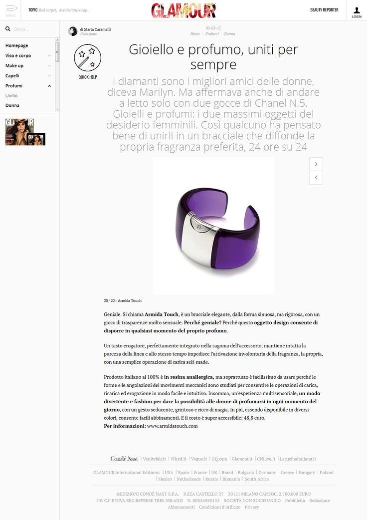 Glamour magazine chose @armidatouch  #glamour #beauty #news #press  http://www.armidatouch.com/press