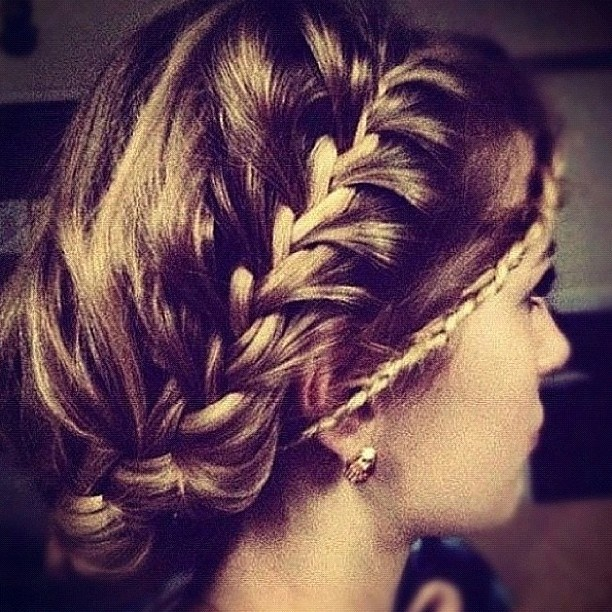 For the bohemian bride: #frenchbraid #wedding