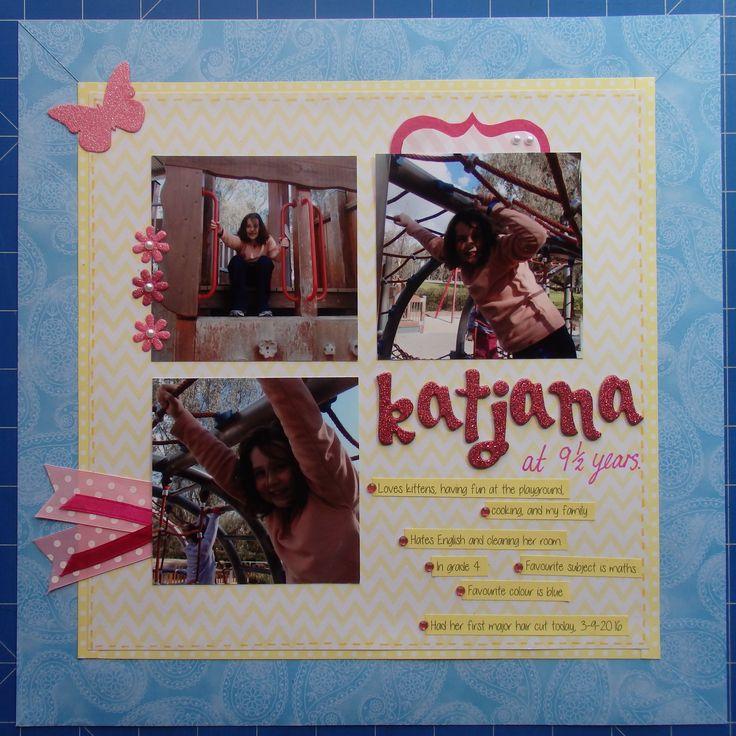 Scrapbook page by Laura: Katjana at 9 1/2