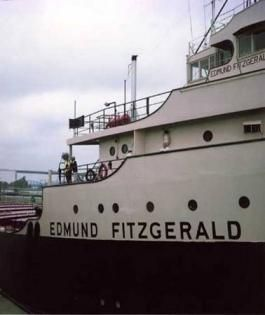 The five Great Lakes are Superior, Huron, Ontario, Erie and Michigan...the Edmund Fitzgerald sank with her crew of 29 on Lake Superior, and made famous by a song from Gordon Lightfoot.