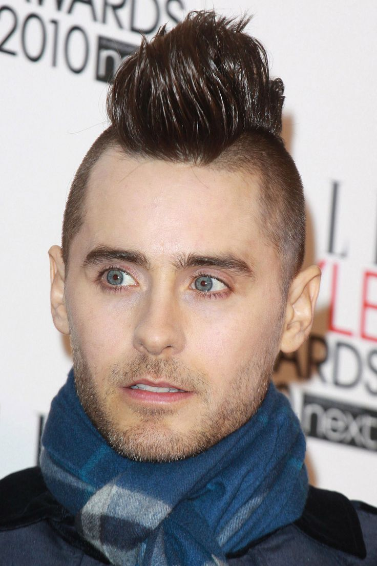 And then he kept it gelled up but shaved the sides. And alas — we're brought to the days of Jared's daring mohawk.