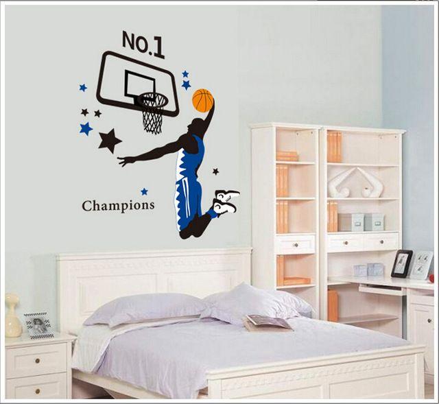 Crianças DIY arte adesivos de parede adesivos de parede adesivos de decoração NBA esporte Mural PVC