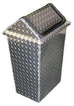 diamond-plate trash can