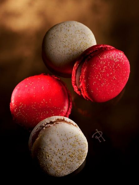Pierre Herme macarons - kumquat, star anise and crystallized kumquat; Agapé is composed of lemon and gingerbread.