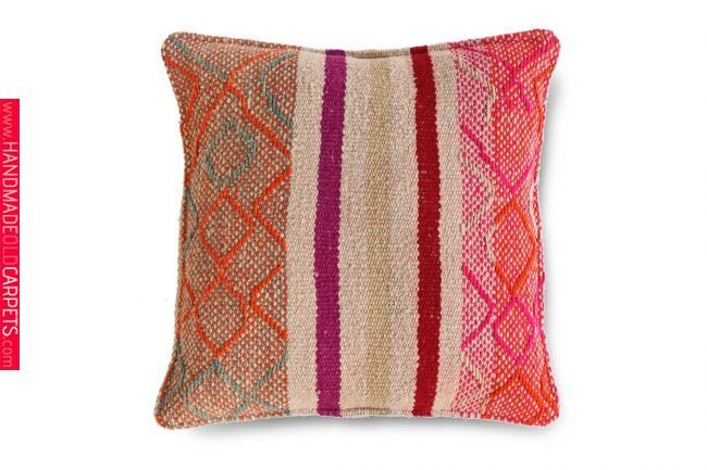 Handmade 18x18 Peruvian Frazada Cushion