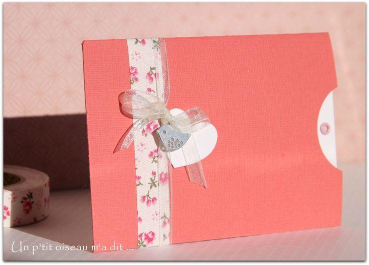 Faire-part de naissance Pochette fleurie fille : Faire-part par un-p-tit-oiseau-m-a-dit