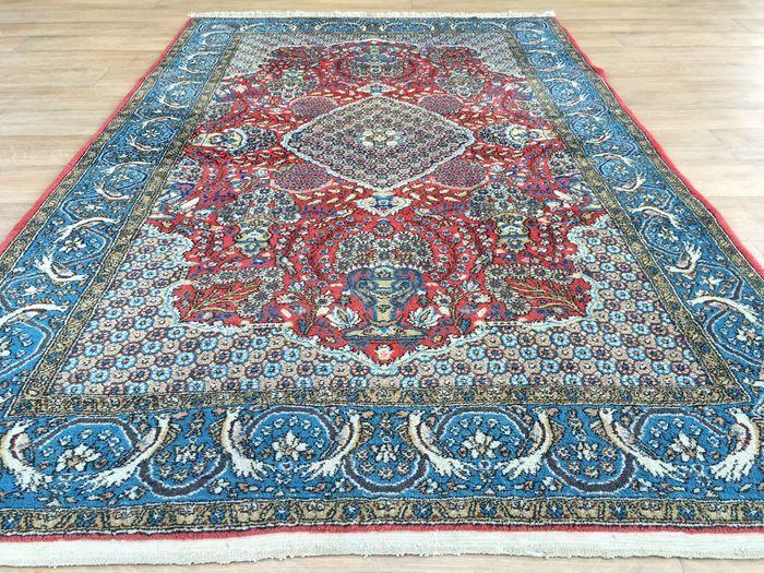 Handgeknoopt Ghom - gemaakt in Perzië/Iran - ca. 40 jaar oud - ca. 213 x 135cm