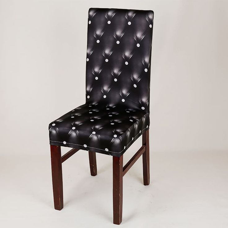 Polyester Spandex Stretch Chair Covers European Classical Elastic Printing Kitchen Wedding Party Hotel Black Chair Covers v35