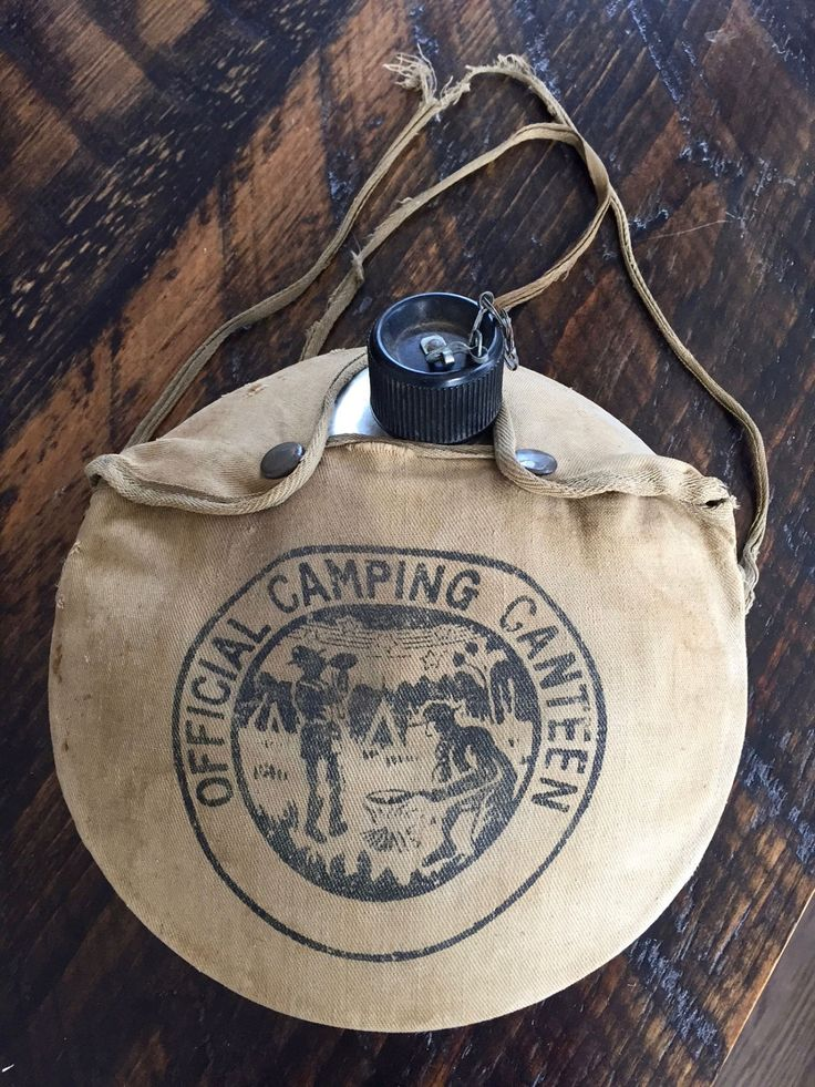 Vintage SCOUT CANTEEN, Aluminum Canteen with Canvas Case, Water Canteen, Vintage Camping, Vintage Outdoor Gear, Japan by BarnboardAntiques on Etsy