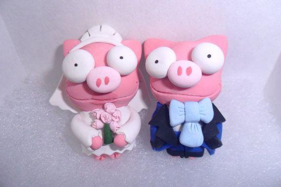 Mancuernas de Cerdito para Boda NORMAL Los Simpsons La boda de Lisa / The Simpsons Cufflinks Pig Lisa's Weeding
